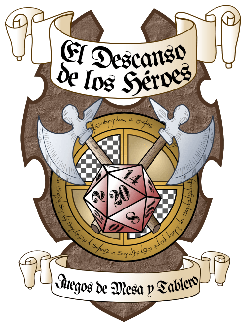 Diseño de un Logotipo - Logotipo Tienda de Rol y Juegos de Mesa - El descanso de los héroes