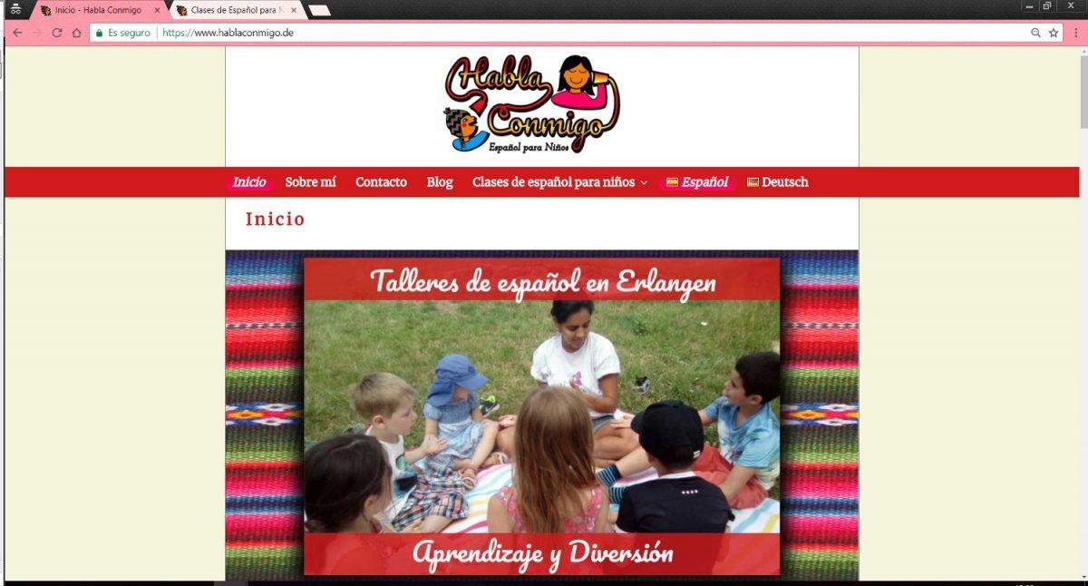 Spanish lessons Website | Web Design | Taisa-Designer