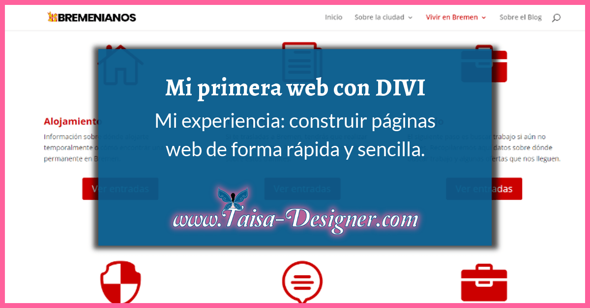 Mi nueva página con DIVI y mi opinión