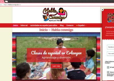 Diseño web página para clases de español para niños