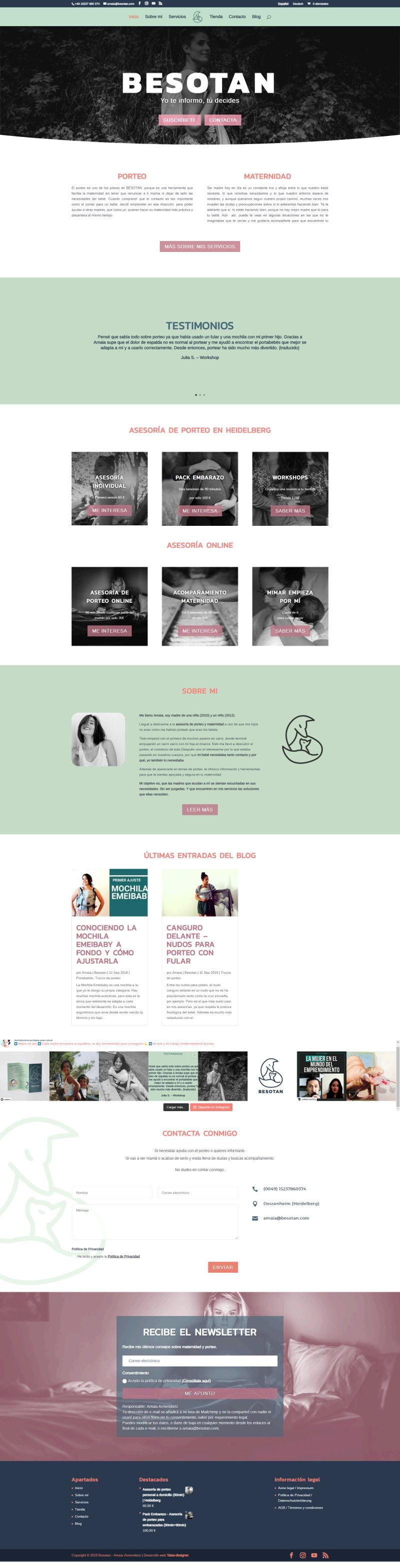 Diseño Página web asesorías