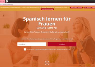 Web design - Spanish teacher web - email marketing