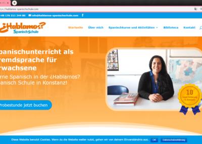 Hablamos-Spanischschule Web design