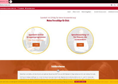 Web design - Spanischlehrerin - angebot