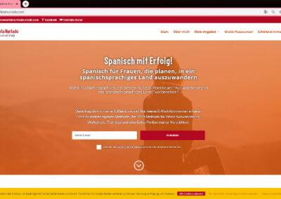 Web design - Spanischlehrerin - home