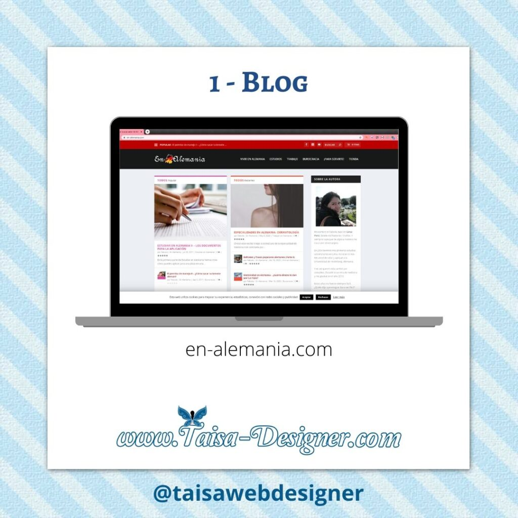 Tipo de web: blog ejemplo: En-alemania.com