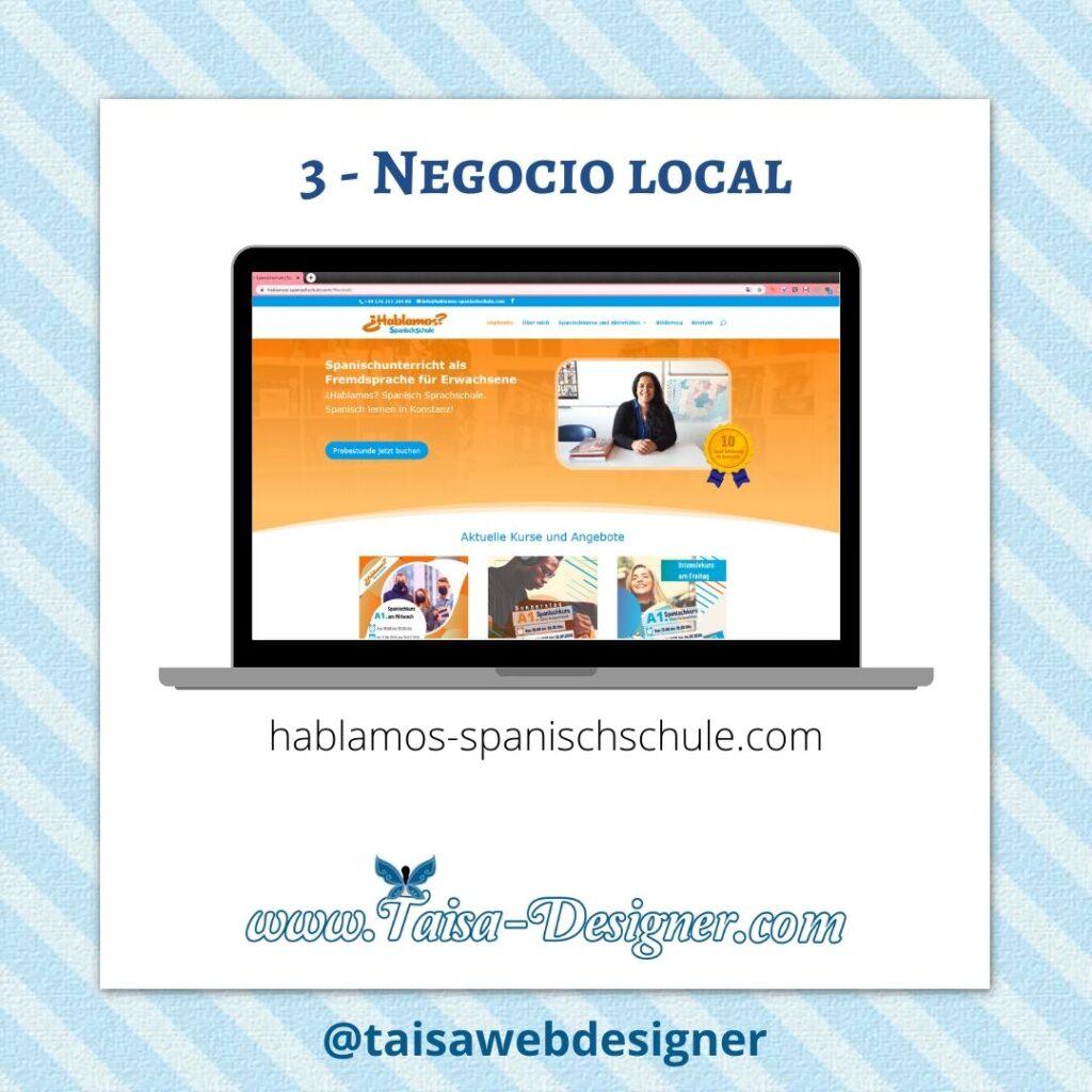 Ejemplo de tipos de páginas web para negocio local posicionando en Google