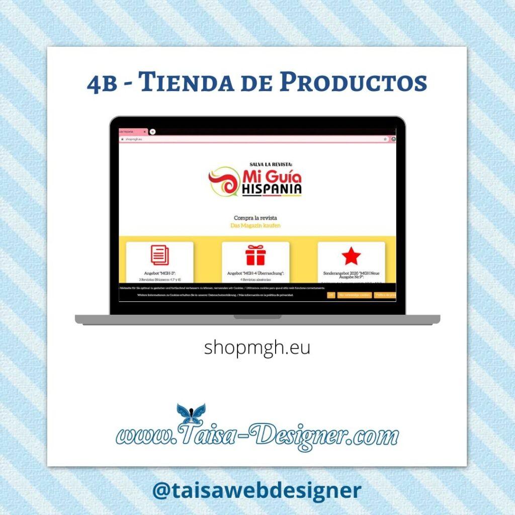 Ejemplo de diseño web monopágina