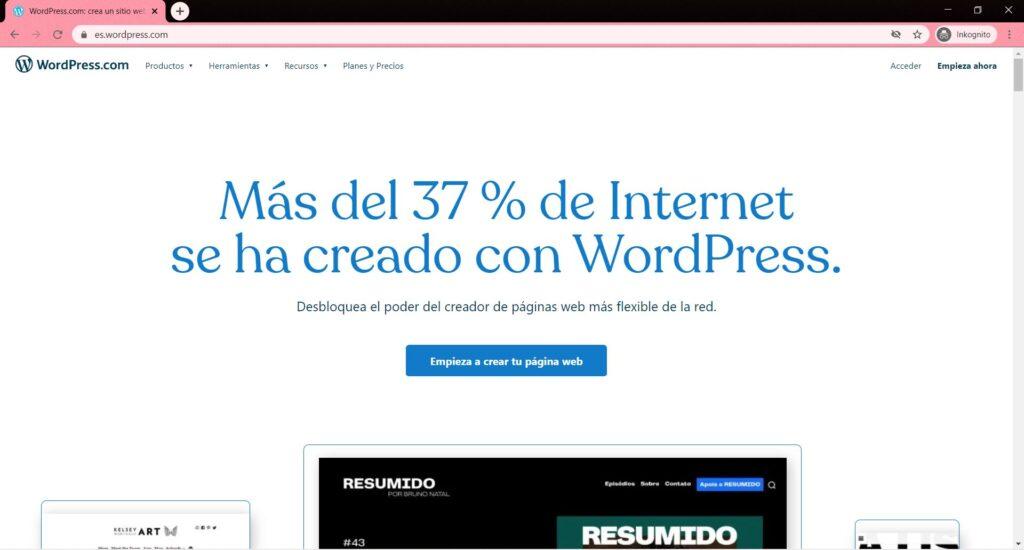 Cómo crear una web gratis con WordPress.com