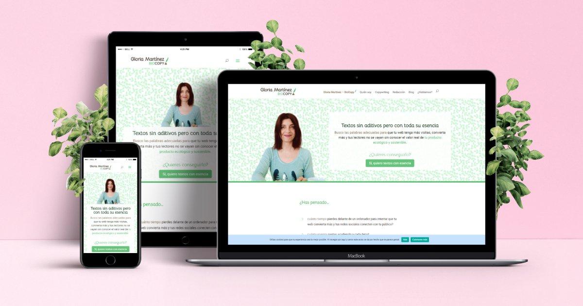 Diseño web para copywriter de proyectos sostenibles